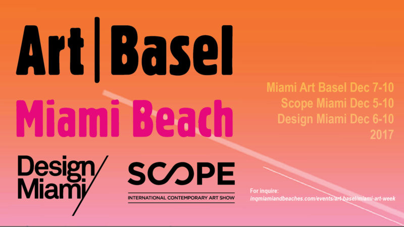 Miami Art Week 2017 Coming Soon